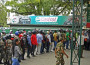 People lined up at Army's petrol pump to refill their tank. There is shortage of petroleum product in the country.