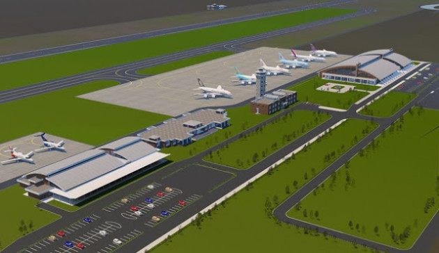 Sketch of proposed airport.
