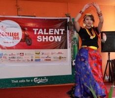 Participant of Miss E-college presenting her talent.
