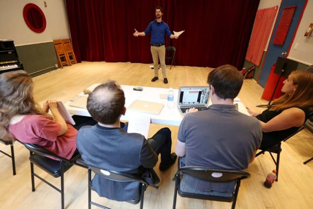 "Actor Hall auditions for new musical ""Martin Shkreli's Game"" at rehearsal space in the Manhattan borough of New York"