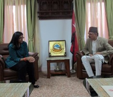 Mahat and US Minister Meeting