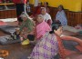 Elderly people involved in recreational activities.