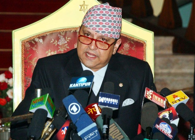 Former King Gyanendra Shah speaking