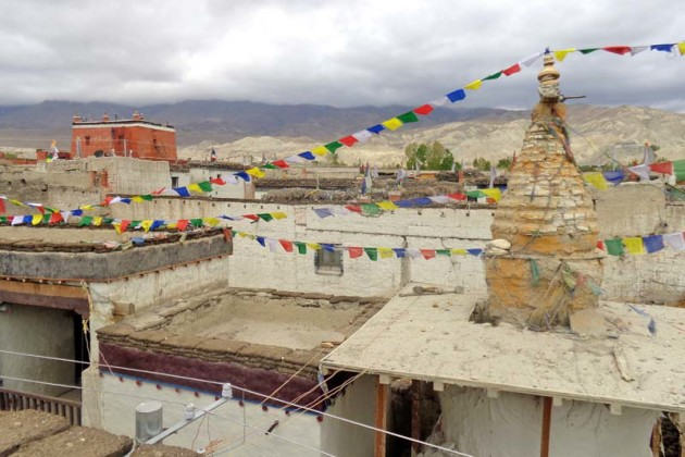 View of Lomanthang in Mustang