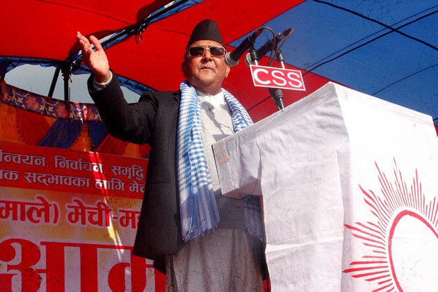 KP Oli_East West Campaign_UML