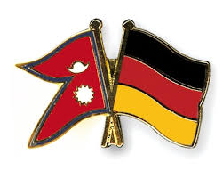 Flag of Nepal and Germany