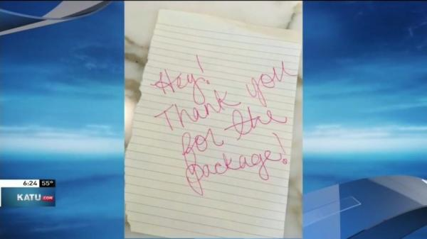 Oregon-package-thief-leaves-behind-thank-you-note