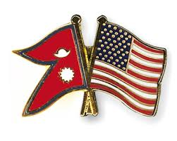 flag of Nepal and US