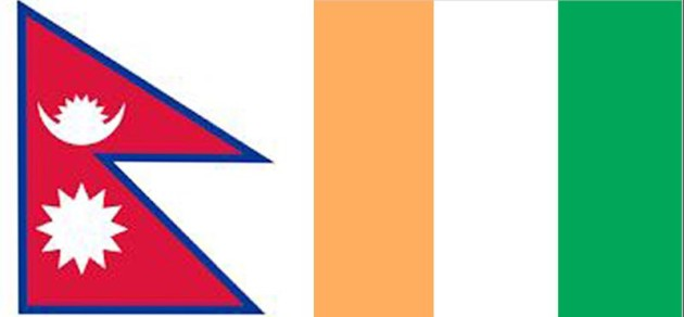 Flags-of-Nepal-and-Côte-d'Ivoire