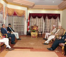 President Meeting with leaders