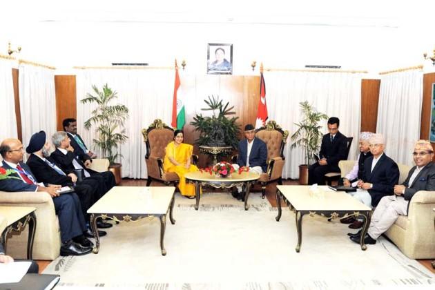 Sushma-Swaraj-and-PM-Deuba