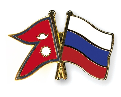 Flag of Nepal and Russia