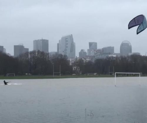 Kite-surfers-take-on-flooded-soccer-field-in-Paris