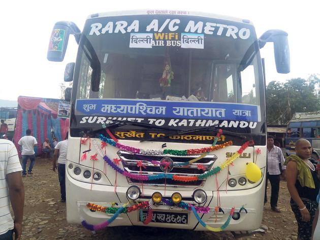 surkhet-delhi-bus